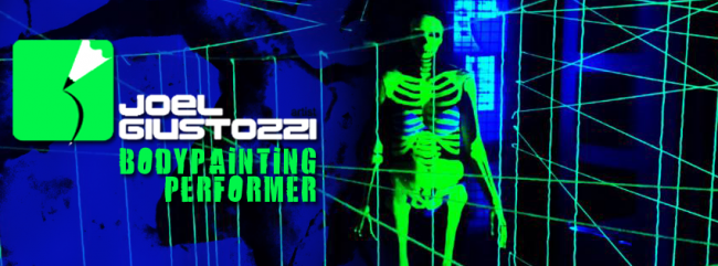 bodypainting dell'artista Joel Giustozzi