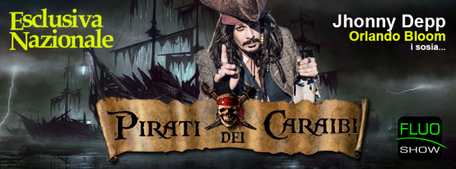 Pirati dei Caraibi sosia Johnny Depp Orlando Bloom